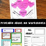 Printable About Me Worksheets