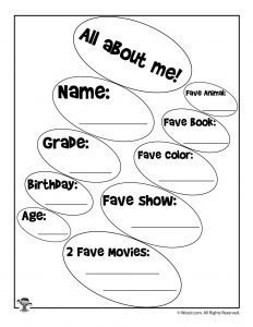 photo regarding All About Me Printable Worksheets named Printable More than Me Worksheets Woo! Jr. Young children Functions