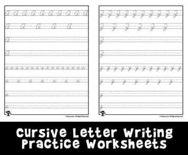 Cursive Writing Practice Worksheets