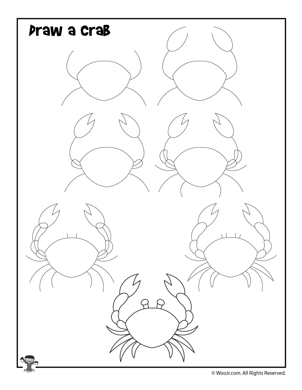 How to Draw a Crab | Woo! Jr. Kids Activities  How to Draw a C...
