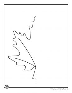 Draw a Maple Leaf Printable