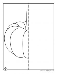 Pumpkin Symmetry Drawing Worksheet