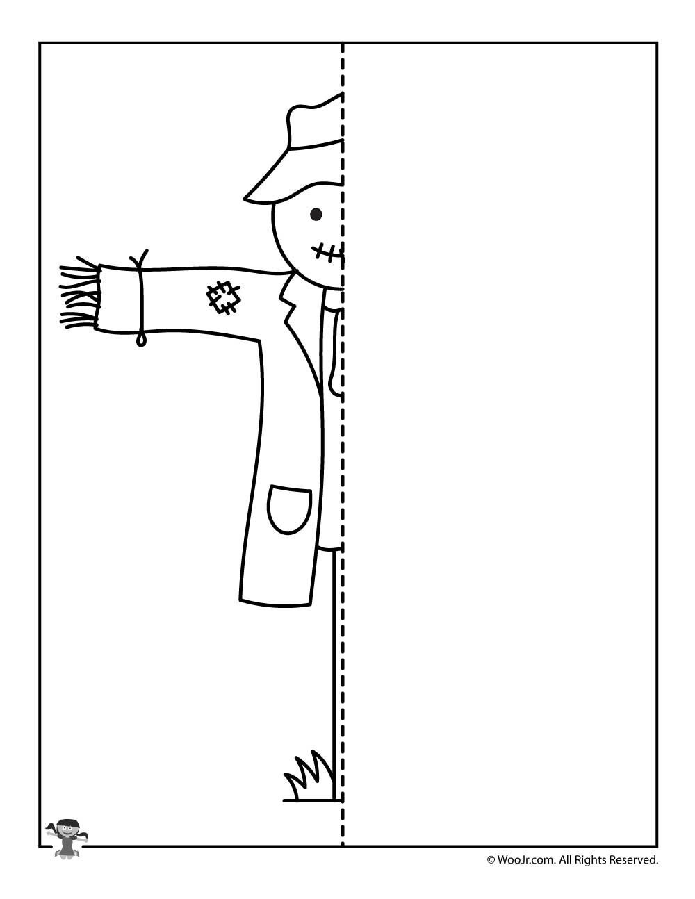 fall scarecrow finish the drawing worksheet
