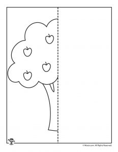 Apple Tree Finish the Picture Worksheet