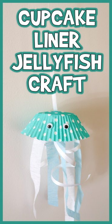 Easy Cupcake Liner Jellyfish Craft