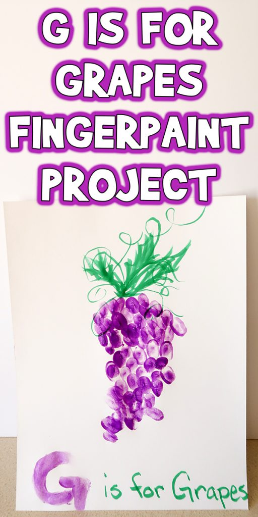 G is for Grapes Fingerpaint Project