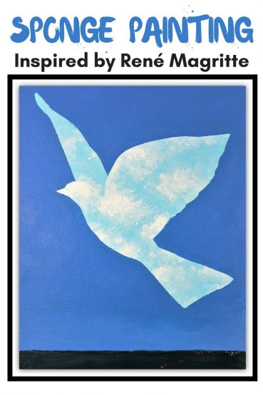Sponge Painting For Kids: Inspired by René Magritte