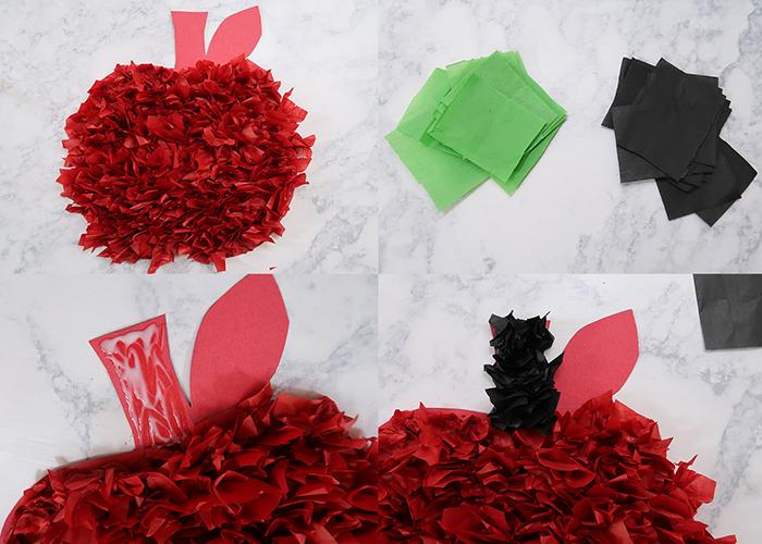 Tissue Paper Apple Craft 7 Woo Jr Kids Activities