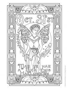 Halloween Angel Adult Coloring Printable