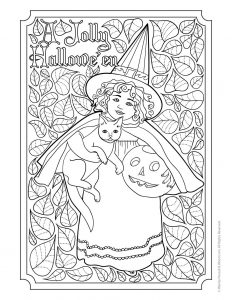 Antique Clapsaddle Adult Coloring Page Free
