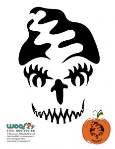 Bride of Frankenstein Pumpkin