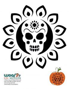 Dia De Los Muertos Pumpkin Pattern