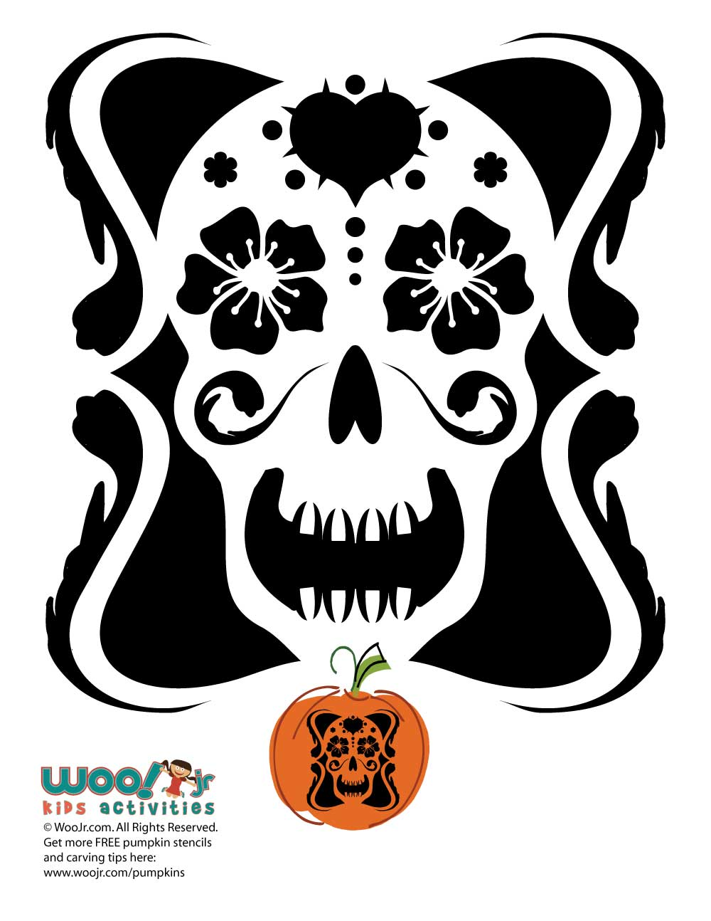 Day Of The Dead Pumpkin Design