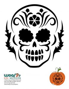 Dia De Los Muertos Skull Pumpkin Carving