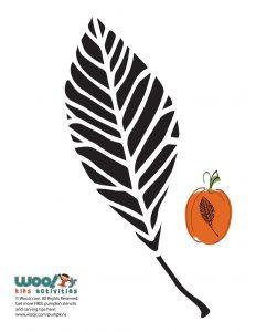 Elm Leaf Stencil