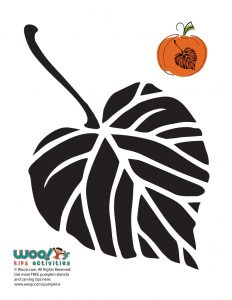 Fall Leaf Stencil for Crafts and Carving