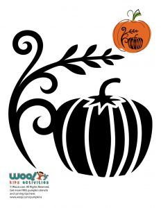 Fall Pumpkin Art Stencil