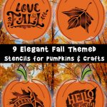 9 Elegant Fall Stencils for Pumpkins and Crafts