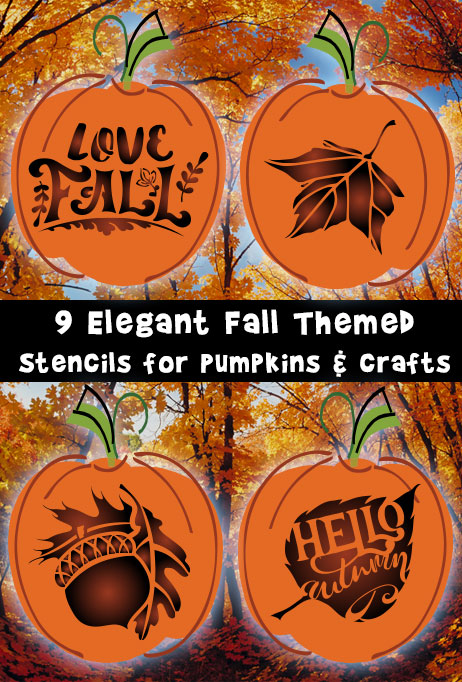 Free elegant fall stencils for pumpkins and crafts