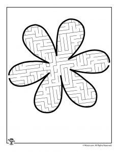 Retro Flower Maze