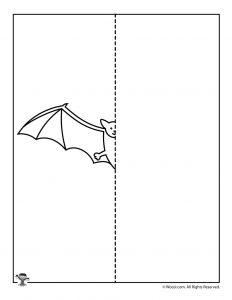Halloween Bat Symmetry Drawing