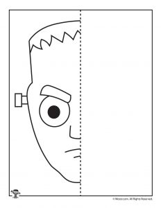 Frankenstein Halloween Drawing Activity