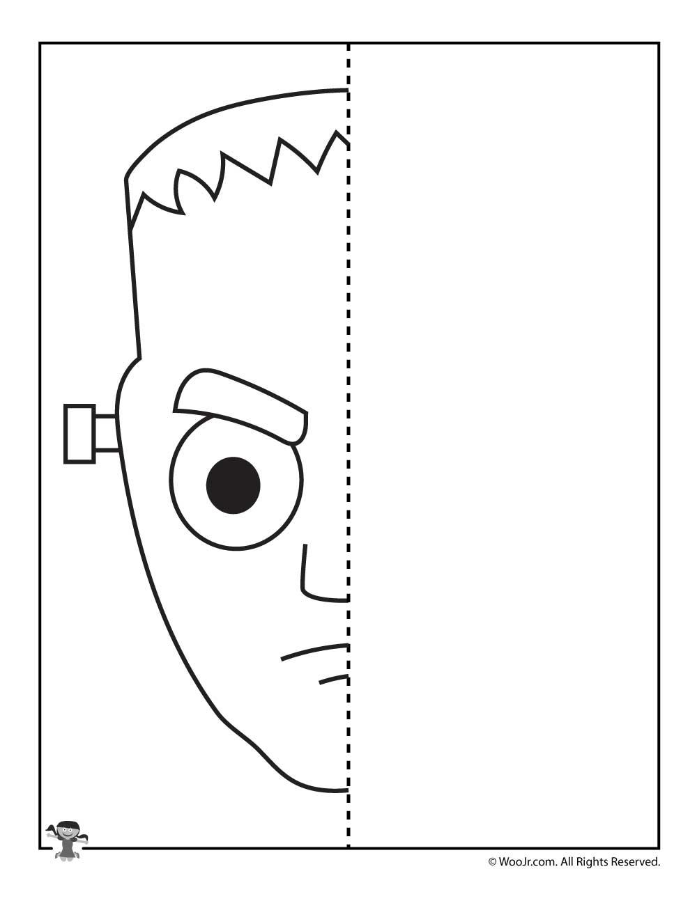 frankenstein halloween drawing activity - Halloween Line Drawings
