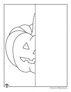 Pumpkin Face Drawing Worksheet