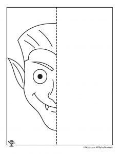 Dracula Halloween Art Activity Sheet