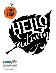 """Hello Autumn"" Typography Stencil"