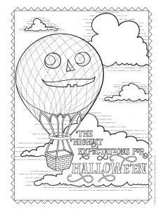 Antique Halloween Pumpkin Hot Air Balloon
