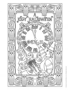 Halloween Adult Coloring Pages Woo Jr Kids Activities