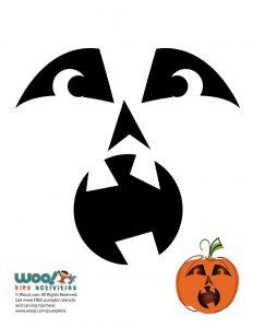Scared Pumpkin Face