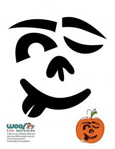 Silly Winking Pumpkin