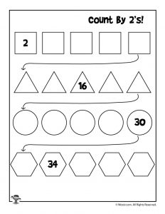 Count by 2's Worksheet