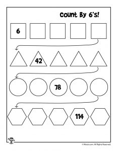 Count by 6's Worksheet