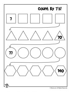 Count by 7's Worksheet