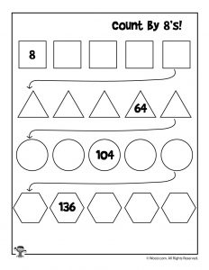 Count by 8's Worksheet