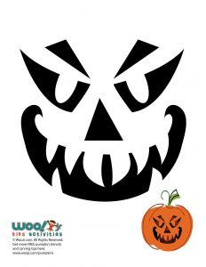A dozen jack o lantern pumpkin faces to carve woo jr for Evil face pumpkin template