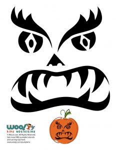 Tribal Pumpkin Face