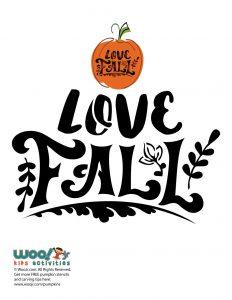 """Love Fall"" Typography Stencil"