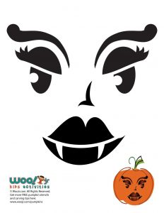 image regarding Printable Pumpkin Face titled A Dozen Jack o Lantern Pumpkin Faces in direction of Carve Woo! Jr