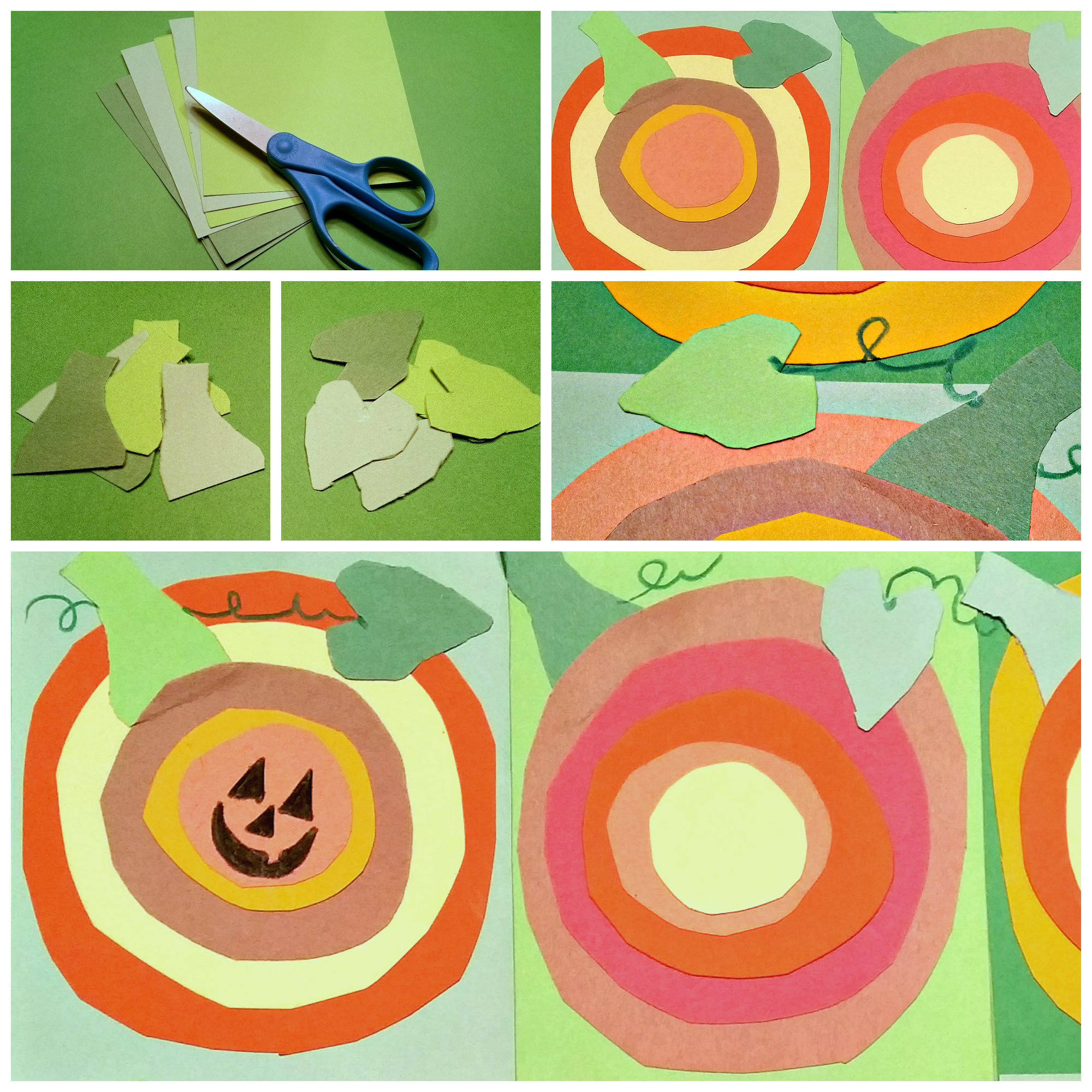 Paper Pumpkins Craft Inspired by Kandinsky\'s Concentric Circles ...