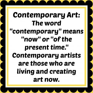 Contemporary art definition