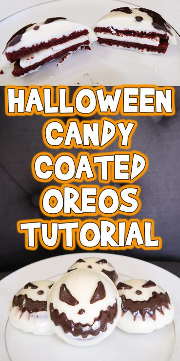 Halloween Candy Coated Oreos Tutorial