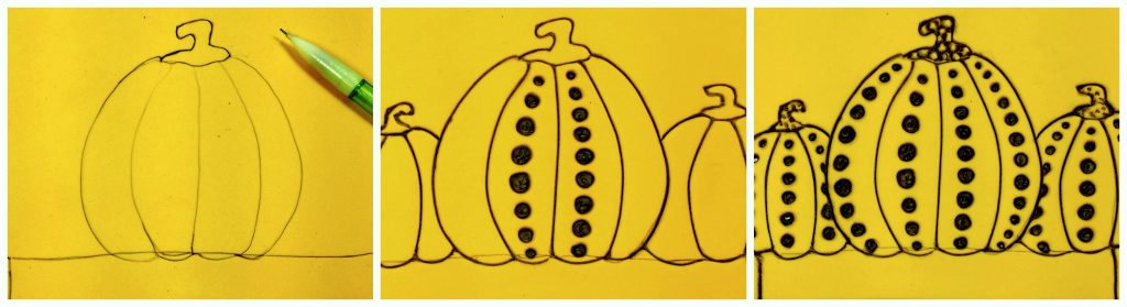Pumpkin printmaking art instructions
