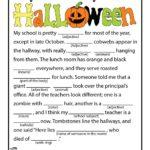 Halloween Ad Libs Word Game Printables