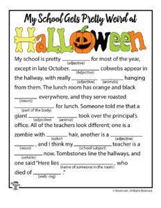 Halloween Ad Libs for Kids