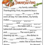 Thanksgiving Ad Libs Fill In Game Printables