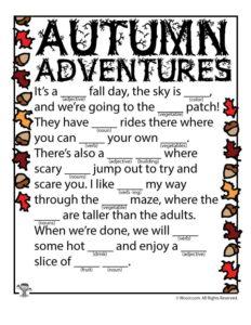 Autumn Adventures Ad Lib